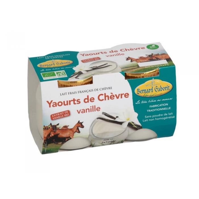 Yaourt de ch vre aromatis vanille 2 125 g - Yaourt maison lait de chevre ...