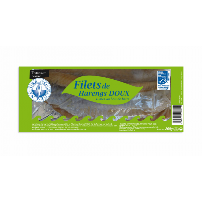 Filets de harengs doux MSC 200gr