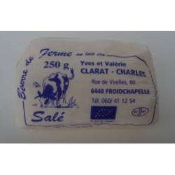 Beurre de ferme salé CLARAT...