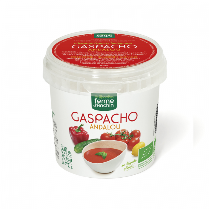 Gaspacho bio (300 ml) d'avril à septembre