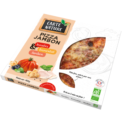 Pizza jambon  400 gr