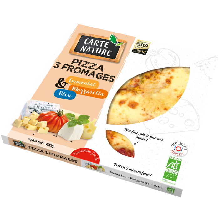Pizza 3 fromages 400 gr