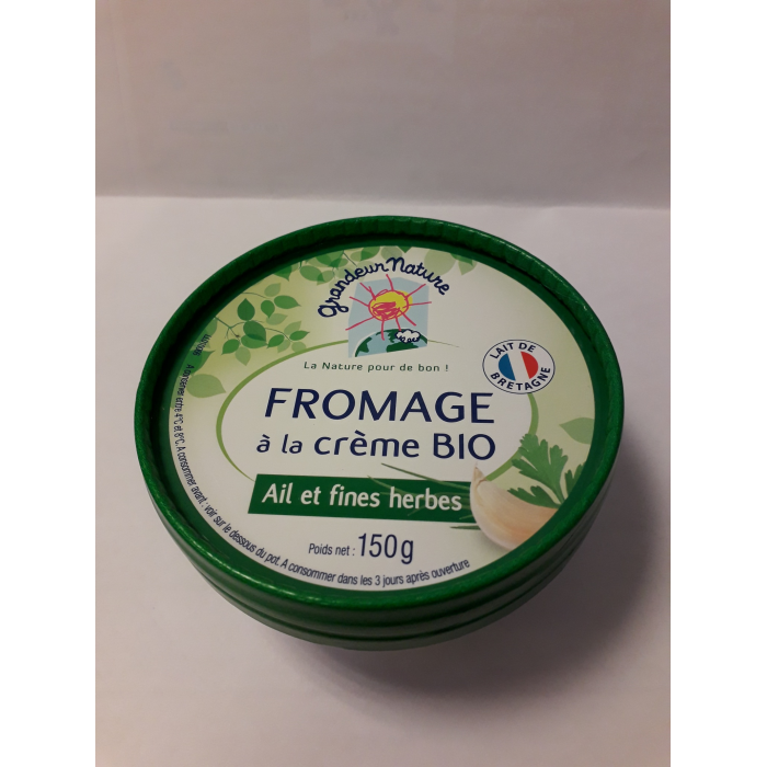 Fromage à tartiner ail et fines herbes 150 gr