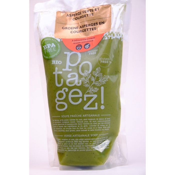 DISPONIBLE 23/04 Potage asperge verte et courgette (950 ml) en saison