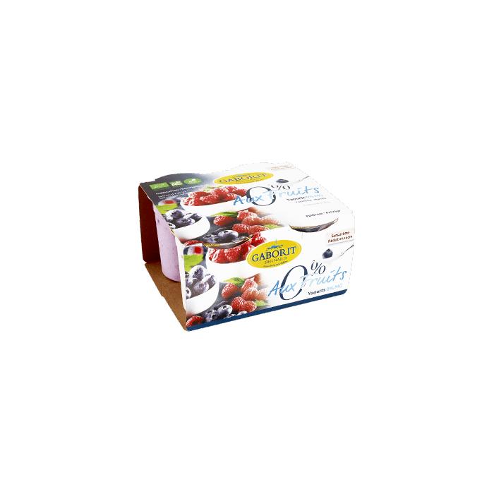 Yaourt 0 % MG (4* 125 g) fraise/framb/myrt/abricot