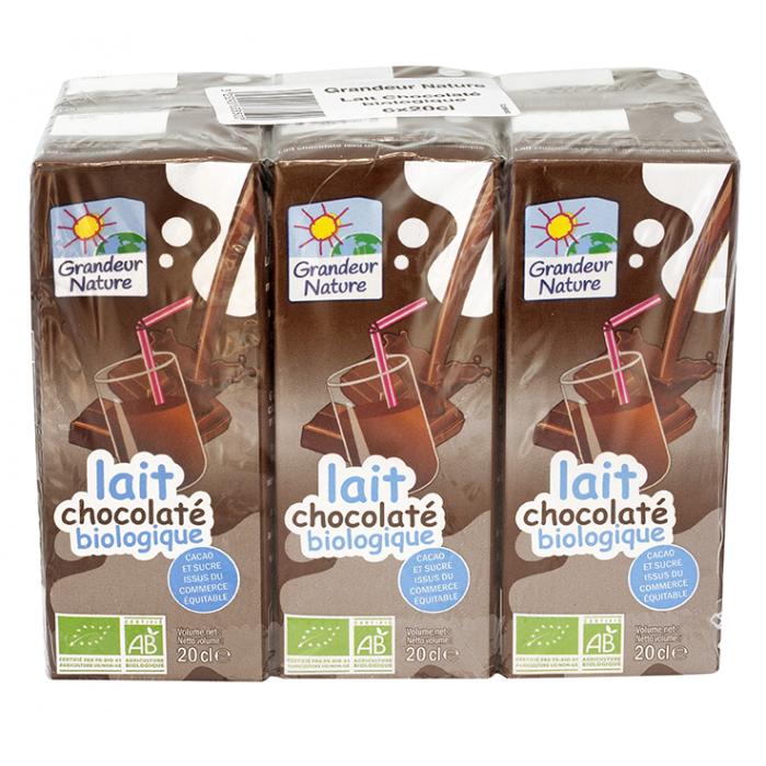 Lait de vache UHT chocolaté (briquette 20 cl *24)