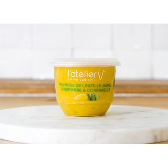 Houmous lentille jaune, gingembre et citronnelle 150gr