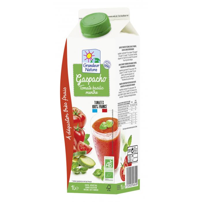 Gaspacho tomate/basilic/menthe (6*1L)