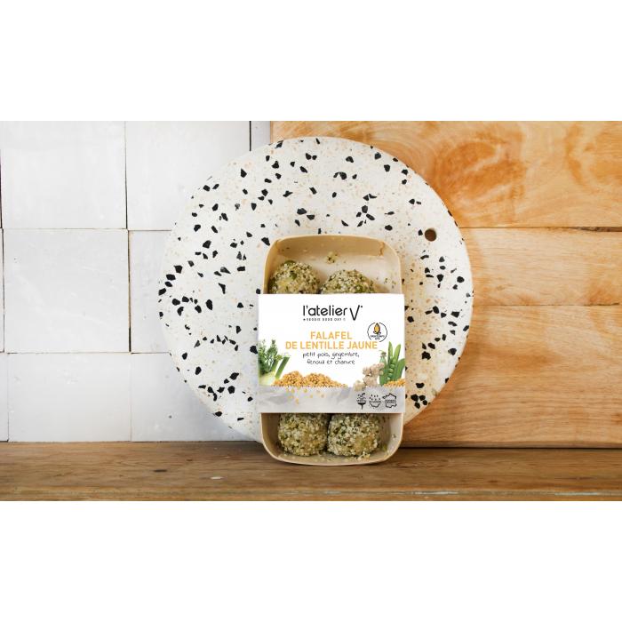 Falafel lentille jaune, petit pois, gingembre, fenouil - chanvre (15*15 gr)