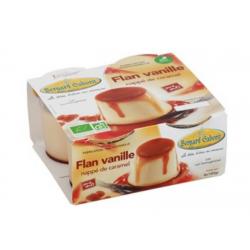 Flan vanille nappé de...